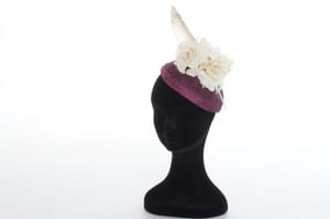 N.joy.Millinery, Natalie-Joy, Natalie Joy Richards, Natalie Richards, Njoy, N.Joy, Milliner, millinery, hatter, hat maker, mad hatter, hatastic, hat, hats, fascinators, headwear, head comb, headdress, hair slide, hair comb, hair clip, headband, hair band, handmade, couture, individual, one off, commision, bespoke, Truro, Cornwall, Sinamay, sinnamay, purple sinamay, velvet flower, white flower, millinery feather, hair feather, hat flower, white velvet flower, ivory flower, diamante, large feather, millinery feather, bow, satin bow