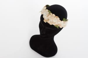 N.Joy.Millinery, Natalie-Joy Richards, Njoy, N.Joy, fashion, costume, headwear, hats, Natalie-Joy, bridal, headpiece, tiara, crown, floral, vintage, velvet flowers embroidered, lace, beading, seed pearls, head dress, alternative tiara, hippy, boho, chic, festival headband, wedding, brides, bride to be