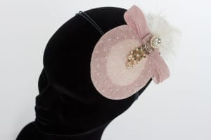 N.Joy.Millinery, Natalie-joy, N.Joy, N.Joy.Richards, Njoy, Natalie-Joy Richards, Millinery, milliner, hat maker, mad hatter, hat designer, costume maker,costume, costume designer, fashion, coture, hand made, bespoke, one off, indivitual, fashion designer, fashion maker, hat, fascinator, headwear, headdress, head dress, head wear, hair slide, hair clip, hair piece, hair band, Truro, Cornwall, Uk, sinamay, sinnamay, dusky pink sinamay, pink sinamay, baby pink sinamay, dotty veiling, dotty netting, dotty mesh, diamante, diamante broach, pearl beading, sinamay loops, sinamay bow, ostrich feathers, white feathers, white ostrich feathers