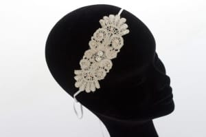 N.Joy, Njoy, Natalie-Joy Richards, N.Joy.Millinery, Natalie-Joy, Briday, hats, headwear, head piece, fascinator, headress, 1920, vintage, flapper, great gatsby, pearl, beading, lace, floral lace,vintage lace, corded lace, ivory lace, white lace, cream lace, blush pink, dusky pink, off white, head band, millinery, hats, milliner, hat maker, hatastic, hat designer, costume designer, fashion, fashionable headwear, couture, bespoke, one off, individual, satin head band
