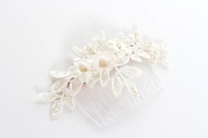 N.Joy.Millinery, Natalie-Joy, Natalie-Joy Richards, Njoy, N.joy, headpiece, hair comb, hair clip, hair slide, head dress, headdress, headress, vintage, lace, vintage lace, corded lace, white lace, cream lace, ivory lace, floral lace, silk flower, fabric flower, diamante, gold, cream, floral, bridal, hat maker, hat designer, hatter, hatastic, hair piece, fashion, fashion designer, costume designer, costume maker, fashion maker, milliner, millinery, hats, bride, bride to be, wedding