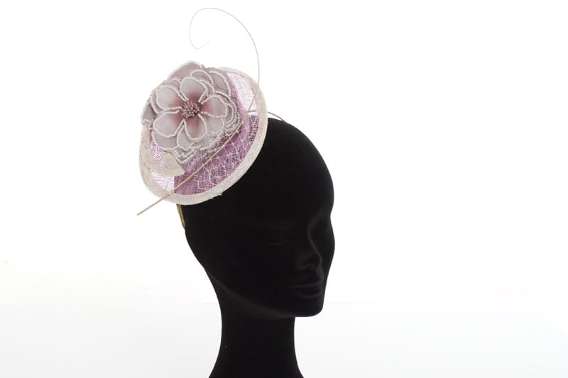 N.joy.Millinery, Natalie-Joy, Natalie Joy Richards, Natalie Richards, Njoy, N.Joy, Milliner, millinery, hatter, hat maker, mad hatter, hatastic, hat, hats, fascinators, headwear, head comb, headdress, hair slide, hair comb, hair clip, headband, hair band, handmade, couture, individual, one off, commision, bespoke, Truro, Cornwall, Sinamay, sinnamay, purple sinamay, birdcage veiling, netting, veiling, ostrich spine, curled ostrich spine, fabric flower, pearl beading, imatation pearls, beaded flower, ivory sinamay, sculpted sinamay, handmade headband coture headband