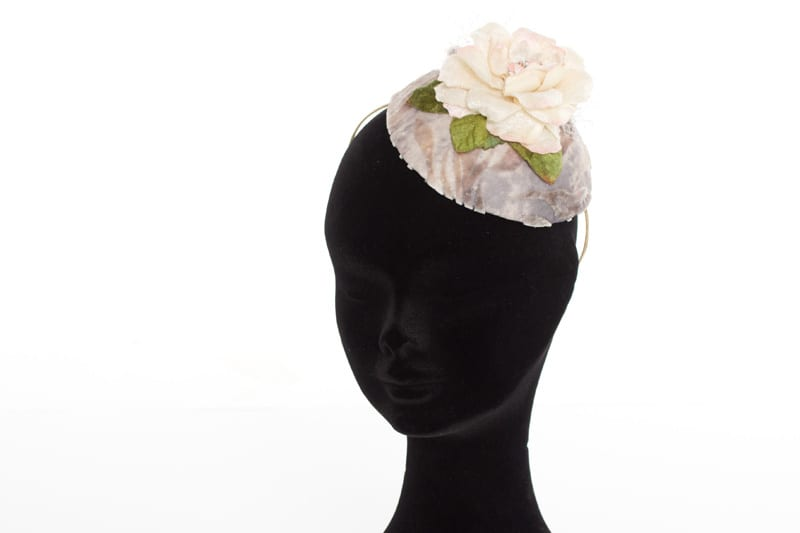N.joy.Millinery, Natalie-Joy, Natalie Joy Richards, Natalie Richards, Njoy, N.Joy, Milliner, millinery, hatter, hat maker, mad hatter, hatastic, hat, hats, fascinators, headwear, head comb, headdress, hair slide, hair comb, hair clip, headband, hair band, handmade, couture, individual, one off, commision, bespoke, Truro, Cornwall, Sinamay, sinnamay, velvet flower, fabric flower, hat flower, hair flower, pink and grey sinamay, pink broach, crystal broach, vintage broach, veiling, netting, birdcage veil
