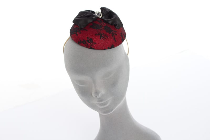 N.joy.Millinery, Natalie-Joy, Natalie Joy Richards, Natalie Richards, Njoy, N.Joy, Milliner, millinery, hatter, hat maker, mad hatter, hatastic, hat, hats, fascinators, headwear, head comb, headdress, hair slide, hair comb, hair clip, headband, hair band, handmade, couture, individual, one off, commision, bespoke, Truro, Cornwall, Sinamay, sinnamay, Red lace, black ace, beaded lace, satin bow, large bow, hair bow, large hair bow, diamante, vintage buckle, vintage broach, cocktail hat, floral lace