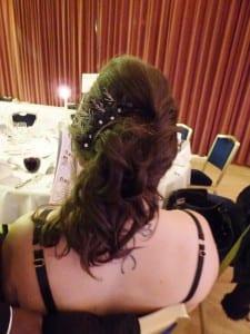 N.Joy.Millinery, Milliner, Natalie-Joy, Hats, Facinator, bridal, bride, wedding, headpiece, headress, head wear, couture headband floral, silk, embroidery, beading, diamonte, black, comb, slide, updo
