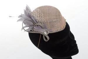 The Alverton, Hotel, Wedding venue, Wedding, Bridal, bride, groom, N.Joy.Millinery, Natalie-Joy, Milliner, millinery, bridal headwear, fascinator, hat, headwear, headpiece, headdress, diplay, wedding display, The Alveton Wedding, The Alveton bride, mother of the bride, sinamay, fancy fascinator, hair flower, wedding fair, dusky pink sinamay, silver sinamay, grey sinamay, veiling, netting, feather mount, feather spray, crystal, beading