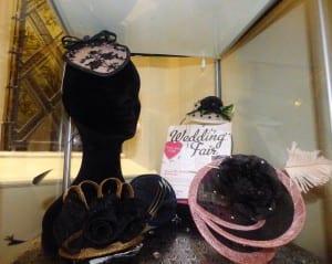 The Alverton, Hotel, Wedding venue, Wedding, Bridal, bride, groom, N.Joy.Millinery, Natalie-Joy, Milliner, millinery, bridal headwear, fascinator, hat, headwear, headpiece, headdress, diplay, wedding display, The Alveton Wedding, The Alveton bride, mother of the bride, sinamay, fancy fascinator, hair flower, wedding fair, black sinamay, pink sinamay, swirl, silk flower, black rose, swaroski crystals, pink ostrich feather, otrich feather, gold sinamay, ivory sinamay, black lace, navey sinamay, mallard feathers, bead cluster, polka dot, black and white, bow, diamonte, sinamay loops, sinamay roses