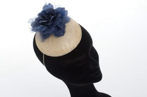 blue flower, The Alverton, Hotel, Wedding venue, Wedding, Bridal, bride, groom, N.Joy.Millinery, Natalie-Joy, Milliner, millinery, bridal headwear, fascinator, hat, headwear, headpiece, headdress, diplay, wedding display, The Alveton Wedding, The Alveton bride, mother of the bride, sinamay, fancy fascinator, hair flower, wedding fair, blue flower, silk flower, fabric flower, ivory sinamay, diamante