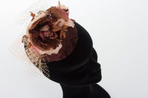 The Alverton, Hotel, Wedding venue, Wedding, Bridal, bride, groom, N.Joy.Millinery, Natalie-Joy, Milliner, millinery, bridal headwear, fascinator, hat, headwear, headpiece, headdress, diplay, wedding display, The Alveton Wedding, The Alveton bride, mother of the bride, sinamay, fancy fascinator, hair flower, wedding fair,  chocolate velvet, brown velvet, velvet flower, silk flower, vintage flower, millinery flower, netting, veiling