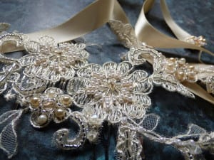 Coture, handmade, Truro, Cornwall, Natalie-Joy Richards, Natalie Richards, Natalie-Joy, N.Joy, Njoy, N.Joy, milliner, millinery, hat maker, headwear, head piece, head band, hair comb, hair jewllery, bride, bridal headwear, bridal head piece, gold ribbon,satin ribbon, floral lace, vintage lace, corded lace, bridal lace, white lace, ivory lace, seed beads, glass beads, gold thread, silver thread, Truro, Cornwall, fascinator