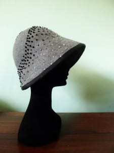 Made in Cornwall, Cornwall, Truro, Kernow, Black and Gold, tin mine, N.Joy.Millinery, Natalie-Joy Richards, Natalie-Joy, N.Joy, Natalie Richards, hat maker, hatter, milliner. millinery, fascinator, hat, headwear, head piece, headdress, hair piece, hair band, hair slide, hair clip, sinnamay, felt, cloche, christmas, christmas fair, christmas shopping, trade show, craft show, local buinesses, cornish, cornish buinesses, beret, top hat, cloche, clip, slide, headband, black and white,pink cloche, grey cloche, silver sinnamay hat, blank and red hat,bridal headwear, wedding, mother of the bride, bidal lace, swaroski crystal, bycone beads, grey cloche, black glass beads, grey glass beads, white glass beads, clear beading, hand beading, hand embroidery, 1920's cloche, downton abby cloche