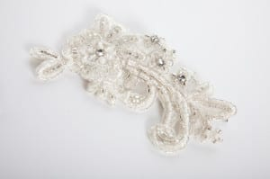 Bridal head wear, bridal head piece, bridal headress, bridal hair clip, diamonte, swaroski crystals, silver embroidery, beaded lace, floral lace, silver beads, class beads, N.Joy.Millinery, Njoy, N.Joy, N.Joy.Richards, Natalie-Joy Richards, Natalie Richards, Natalie-Joy, N-Joy, Hatter, millinery, Milliner, hair piece, hat designer, hat maker, fashion designer, costume designer, Made in Cornwall, Cornwall, Truro, Hat, headwear, fascinator, headband, headdress. headpiece