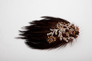 Vintage feather pad, brown feather pad , chocolate brown feathers, millinery feathers, feathers hair slide, feathered hair clip, feathered hair comb, feathered hair piece, feathered head dress, brown lace, floral lace, beaded lace, glass beads, seed beads, bronae beads, gold beads, vintage laceN.Joy.Millinery, Njoy, N.Joy, N.Joy.Richards, Natalie-Joy Richards, Natalie Richards, Natalie-Joy, N-Joy, Hatter, millinery, Milliner, hair piece, hat designer, hat maker, fashion designer, costume designer, Made in Cornwall, Cornwall, Truro, Hat, headwear, fascinator, headband, headdress. headpiece