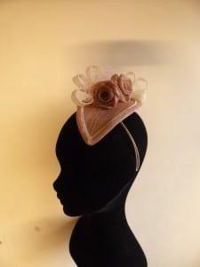 Natalie-Joy Richards, Natalie-Joy, Natalie Richards, N.Joy, Njoy, N-Joy, Millinery, millinery, hatter, hat maker, hat designer, costume designer, fashion designer, hat, headwear, head piece, headdreass, cocktail hat, headband, hairband, coture, one off, custom, sinamay, sinamay roses, sinamay loops, dusky pink fascinator, dusky pink sinamay, cream fascinator, teardrop fascinator,1940's inspired fascinator, Vintage inspired fascinator,, ivory sinamay, pink sinamay, handmade headband